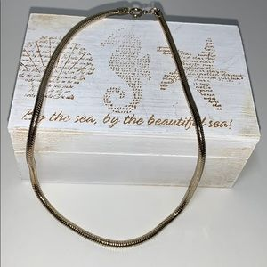 VTG Snake Chain Choker Necklace Gold Tone